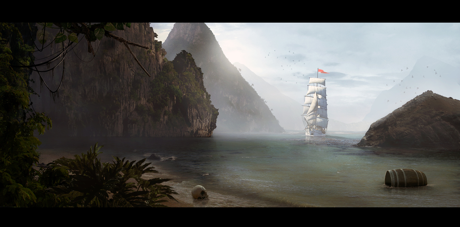 Sailing ship concept art and illustrations concept art world for Matte painting