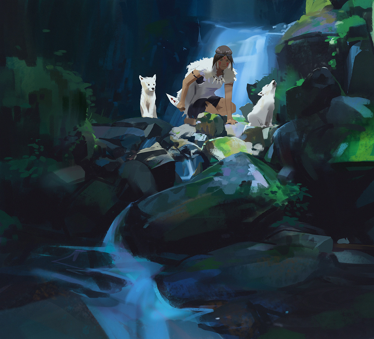 Studio Ghibli Inspired Artwork by Atey Ghailan