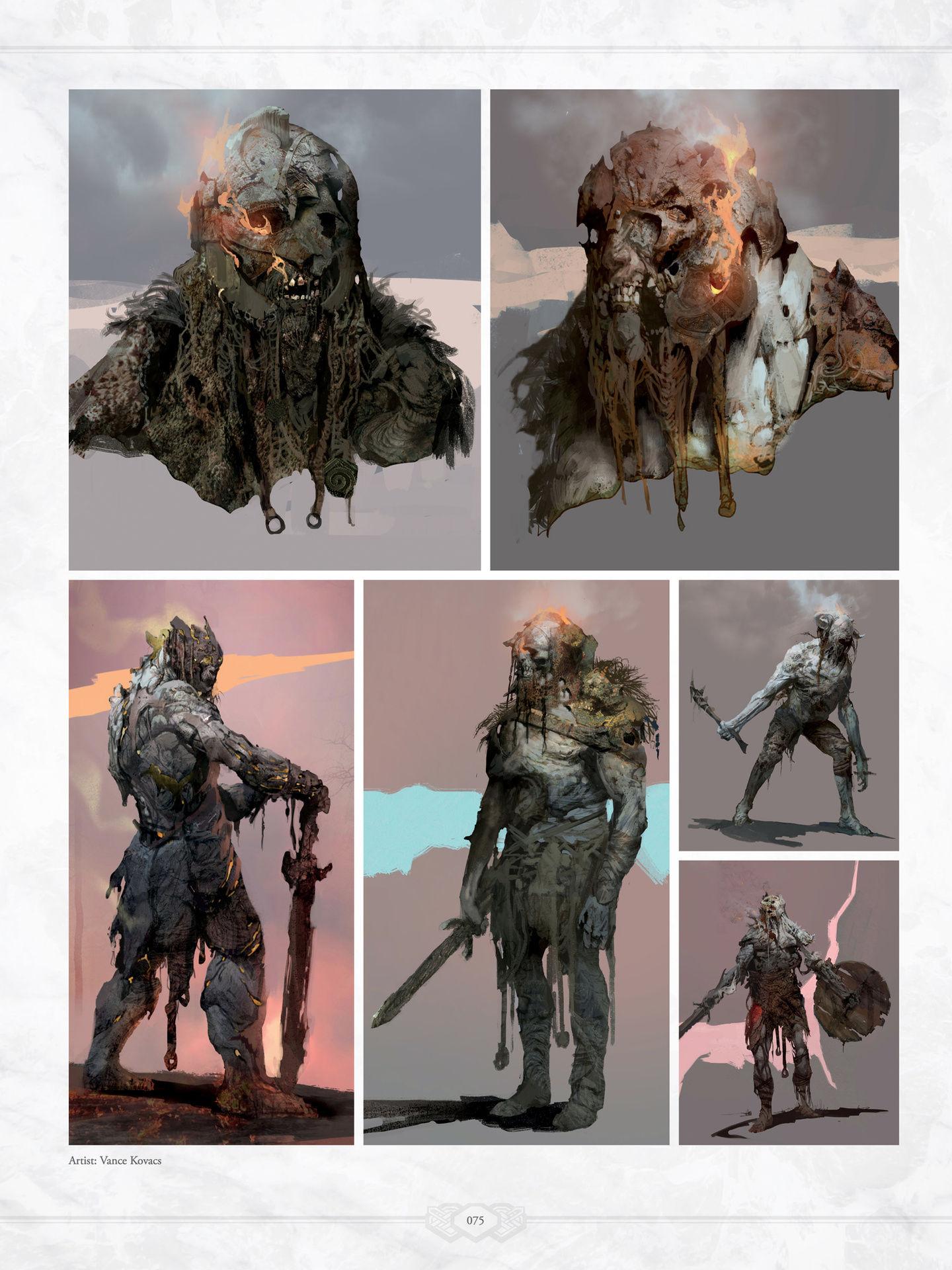 God Of War 4 Concept Art Book