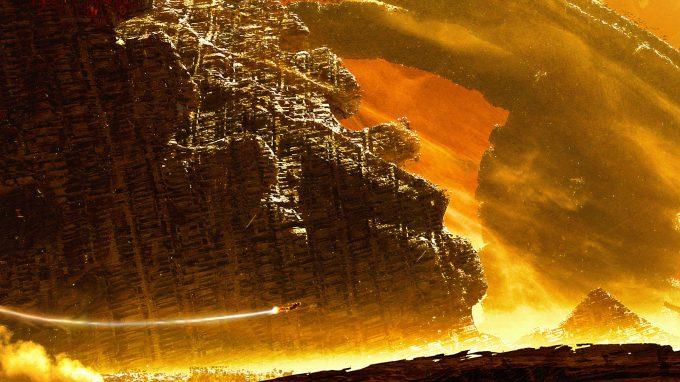 Avengers Infinity War Concept Art Olivier Pron 007 EXT Titan1 Hoop V1 160212 crop1 OP