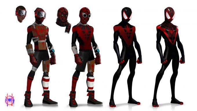 Spider Man Into the Spider Verse Concept Art Florent Auguy miles custom