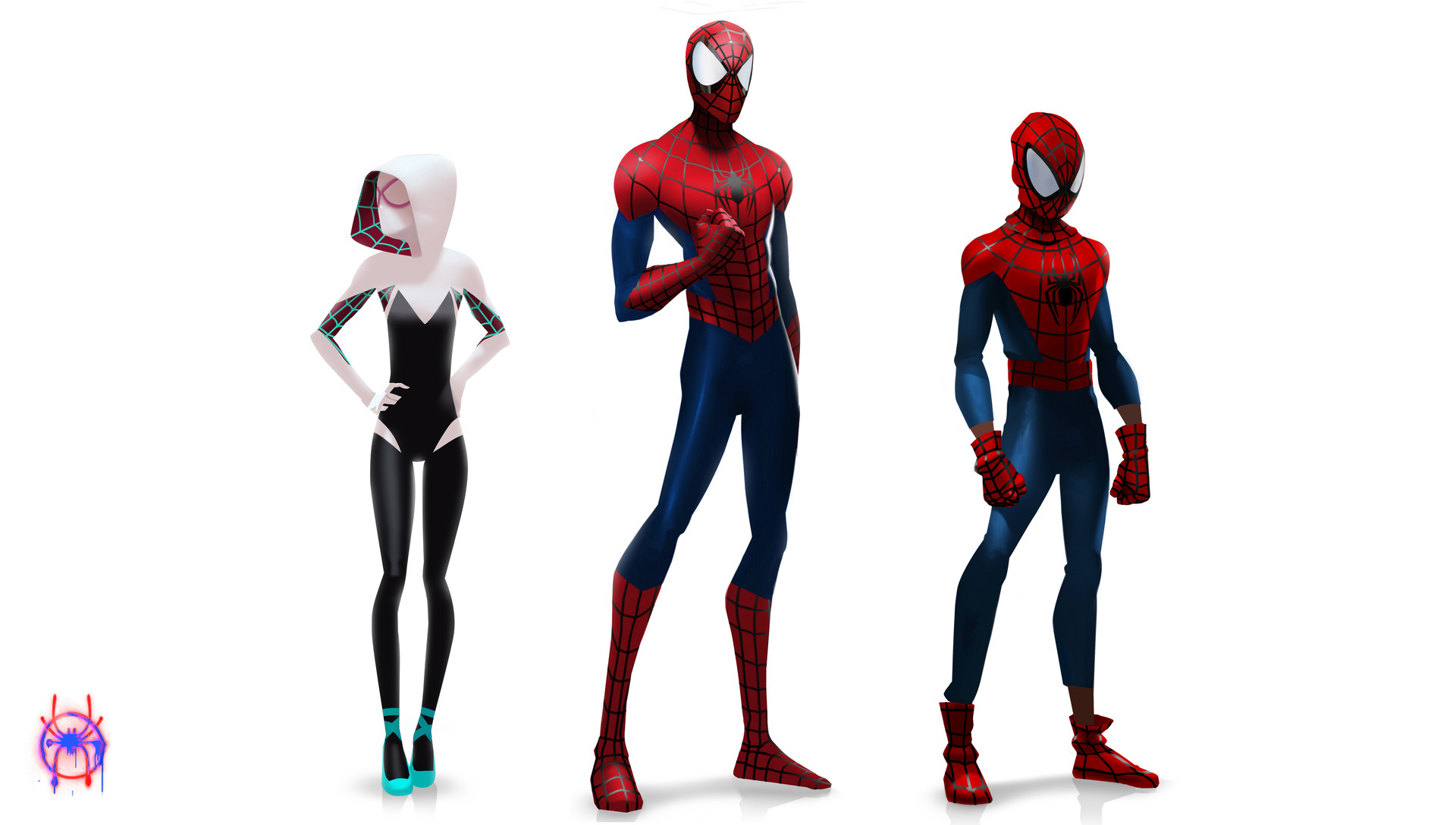 Spider Man Into The Spider Verse Concept Art By Florent