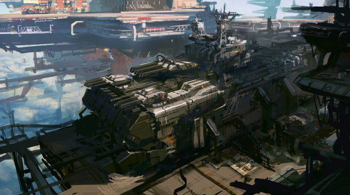 Pierre Etienne Travers Concept Art Vector Strike destroyer