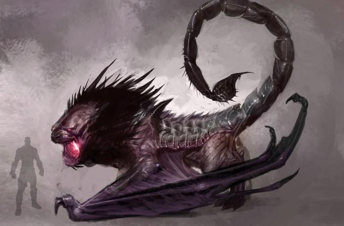 Izzy_Medrano_Concept_Art_Illustration_05_God_of_War_manticore