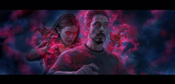 avengers age of ultron concept art tony stark scarlet witch 01