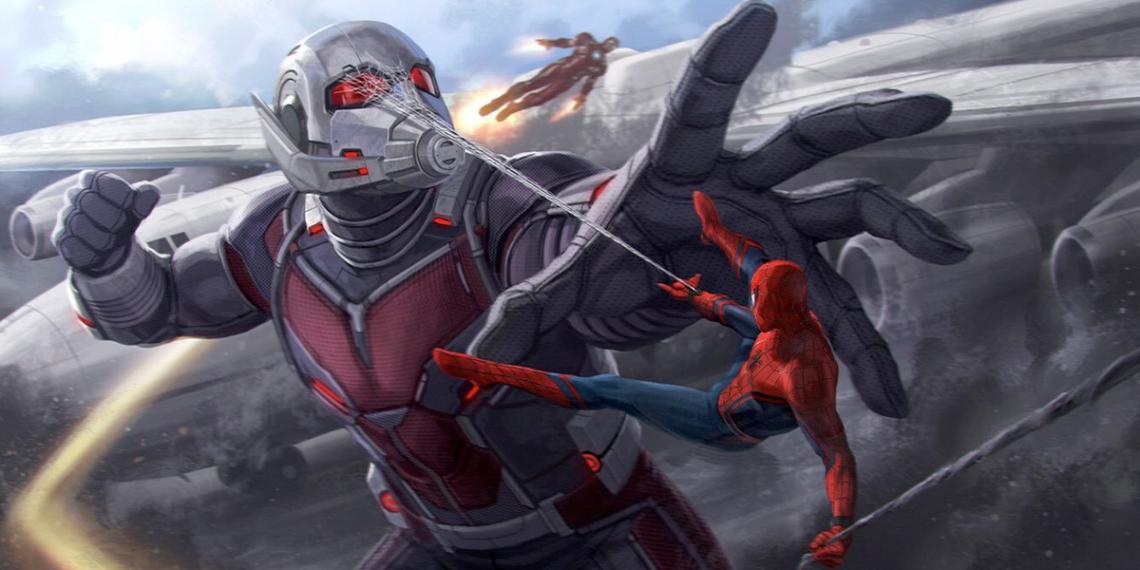 captain america civil war concept art andy park spider man vs giant man M01