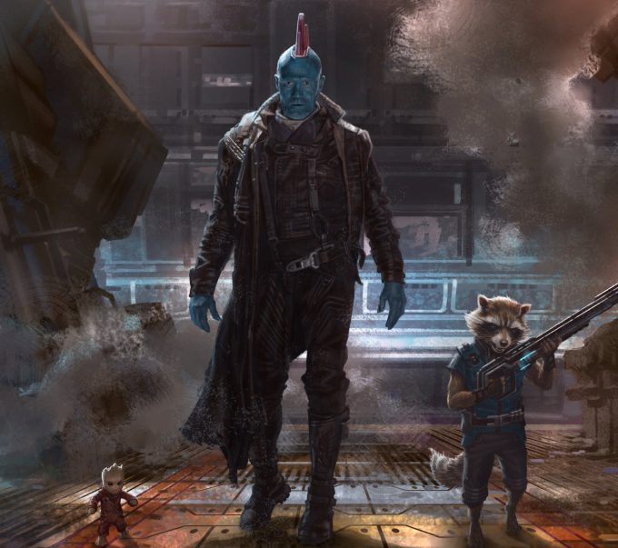 guardians of the galaxy vol 2 concept art andy park groot rocket racoon yondu 01