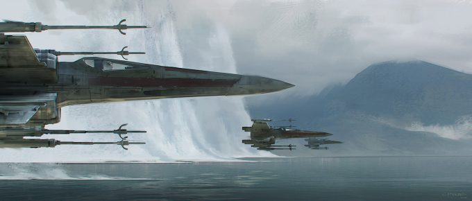james clyne concept art star wars the force awakens 032 x wings 01