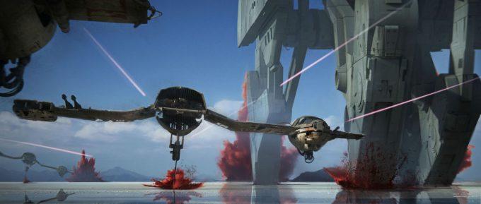 star wars the last jedi concept art james clyne 02 battle of crait