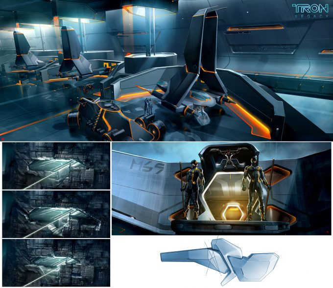 Thierry Doizon concept art illustration Tron Legacy 01
