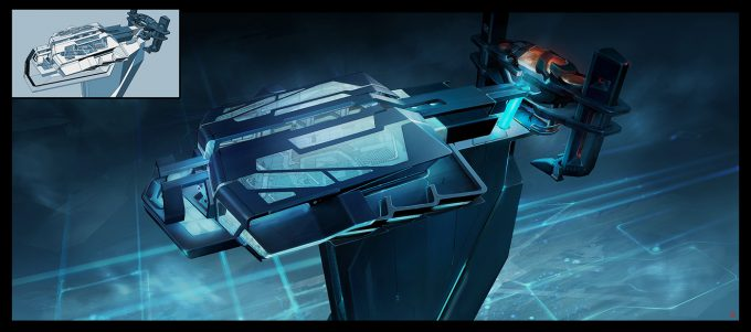 Thierry Doizon concept art illustration Tron Legacy 03 eolc early art