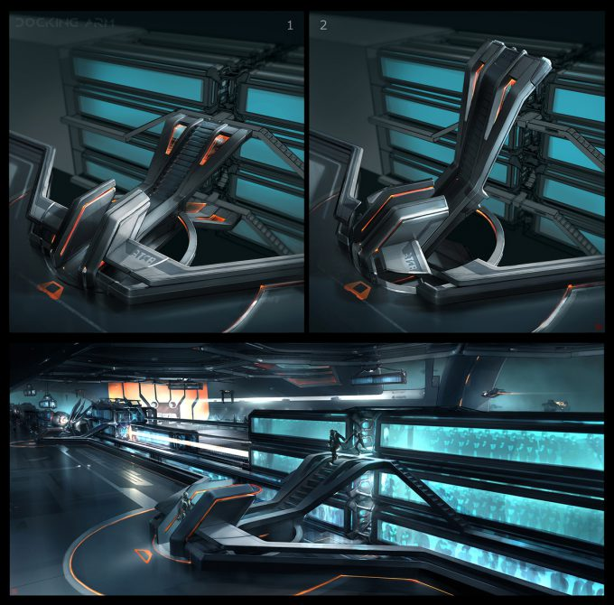 Thierry Doizon concept art illustration Tron Legacy rectifier