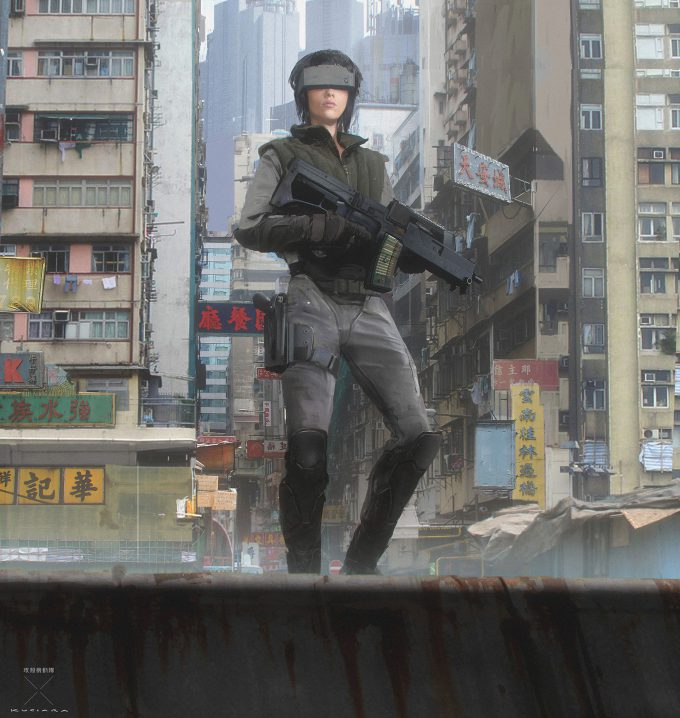 Ghost In The Shell Concept Art Maciej Kuciara Major Tactical 01
