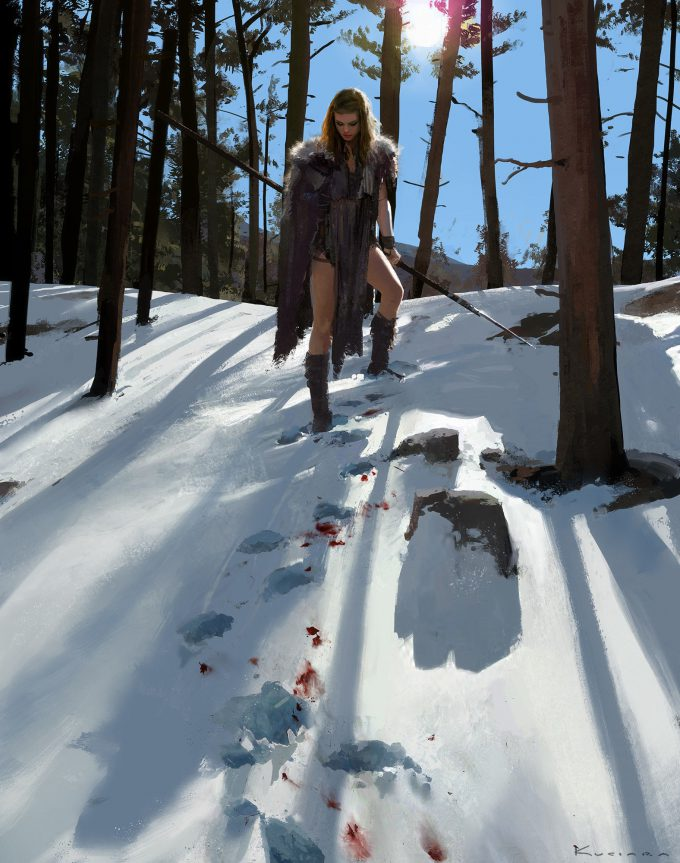 Maciej Kuciara Concept Art The Mother and Winter Child