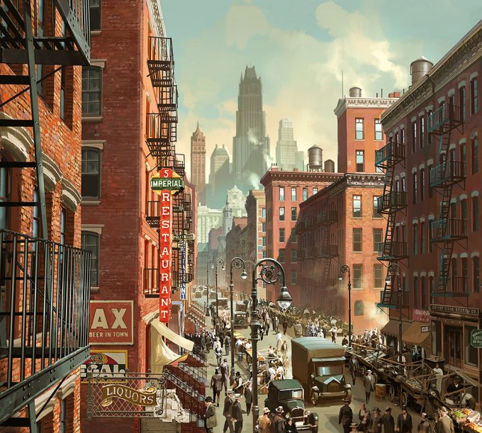 Peter Popken concept art fantastic beasts NY Street Set 001
