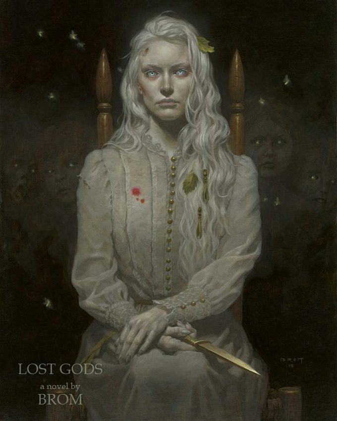 Gerald Brom Art painting illustration Lamia