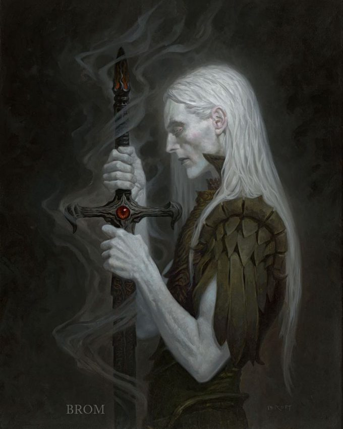 Gerald Brom Art painting illustration New Elric