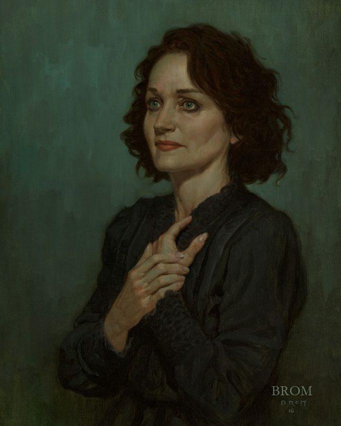 Gerald Brom Art painting illustration Portrait Laurie Lee Brom