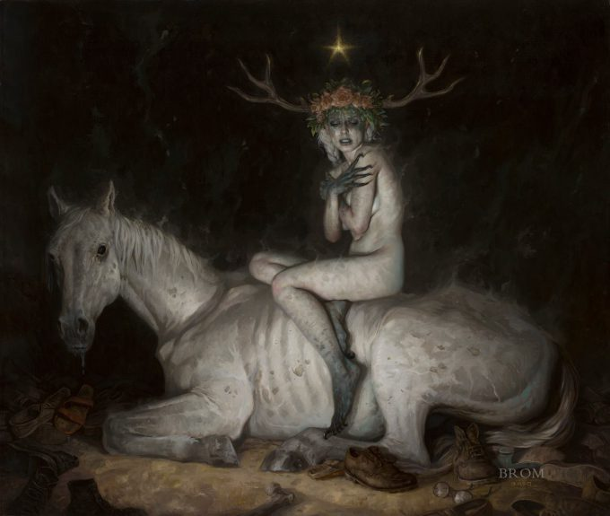 Gerald Brom Art painting illustration The Night Mare