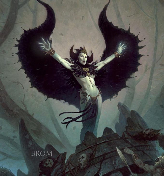 Gerald Brom Art painting illustration Witchwood 2012