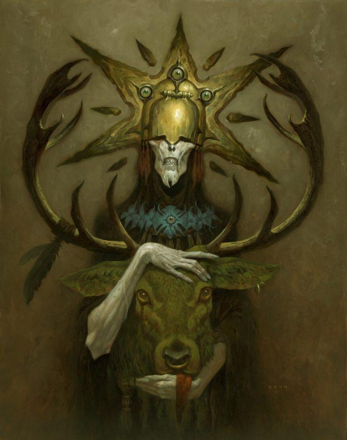 Gerald Brom Art painting illustration lord Kashaol