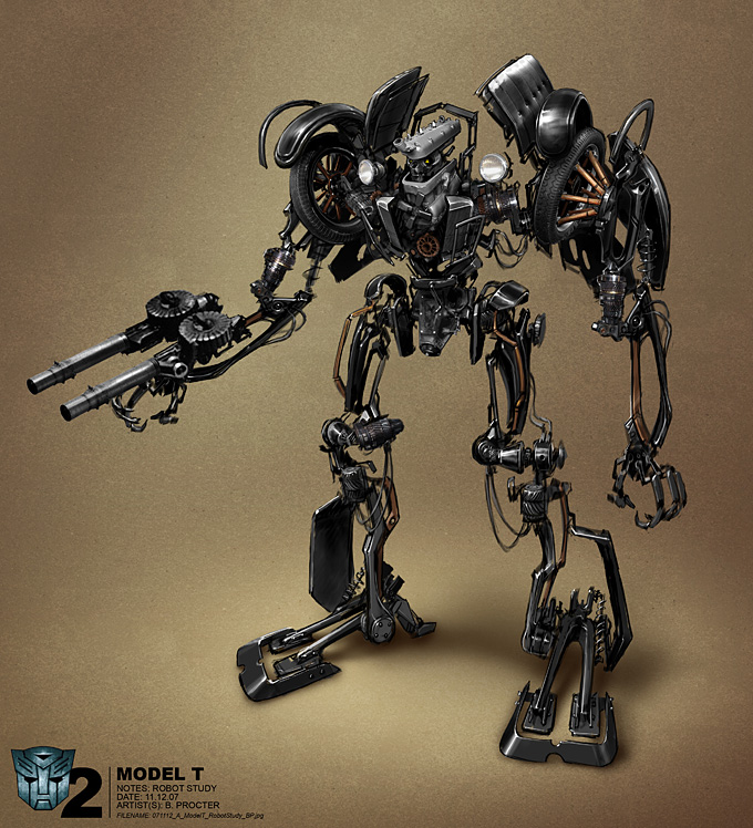 Transformers 2 Concept Art by Ben Procter