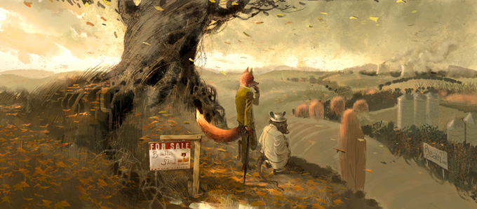 Fantastic Mr. Fox Art by Chris Appelhans