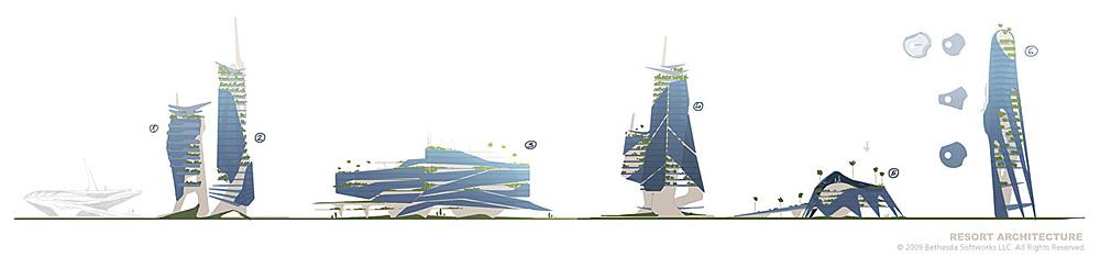 Brink Concept Art - Resort Architecture