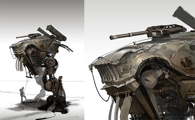 John Park Mech Concept Art 01a