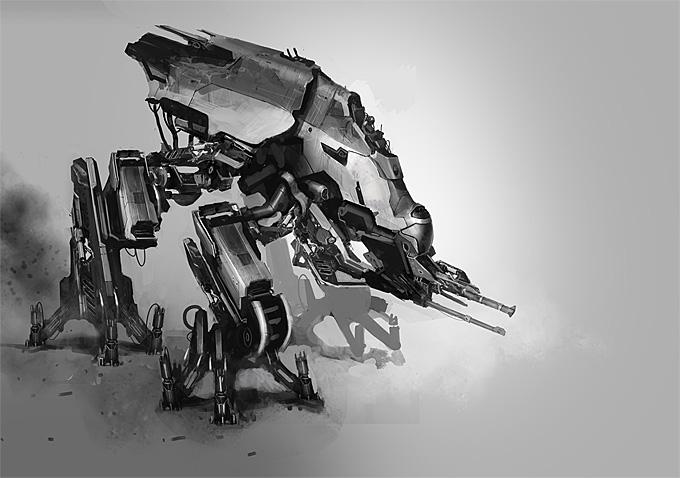 Paul Chadeisson Mech Concept Art 01a