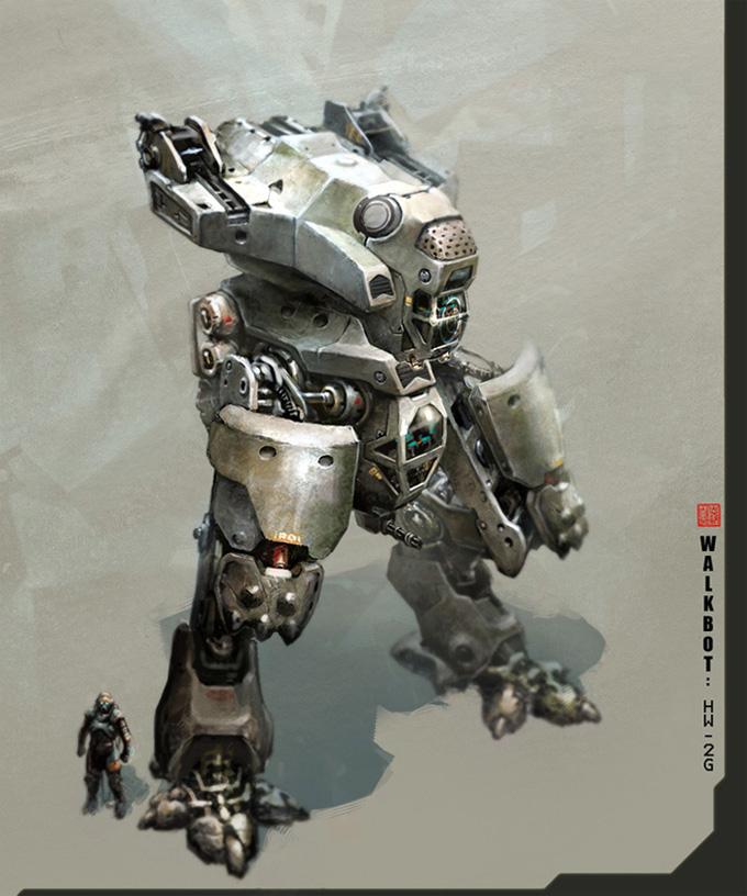 Thierry Doizon Mech Concept Art 01a