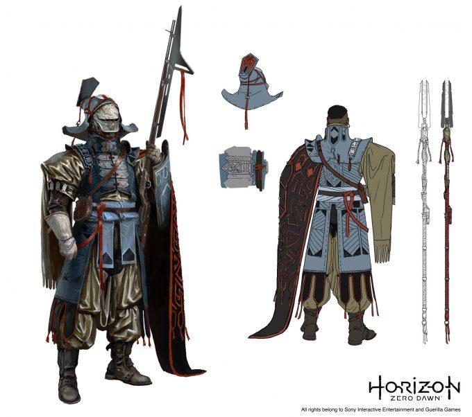 horizon zero dawn concept art ville valtteri kinnunen tenara guard