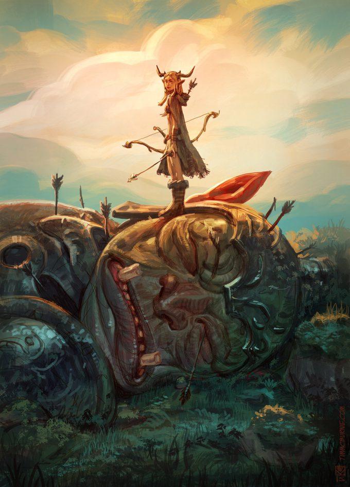 tim mcburnie concept art illustration Giant Hunter L