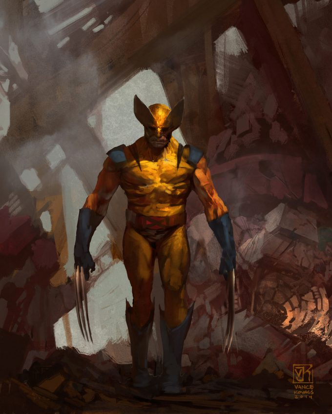 Vance Kovacs Concept Art wolverine sentinal for breakfast rev 2 flat