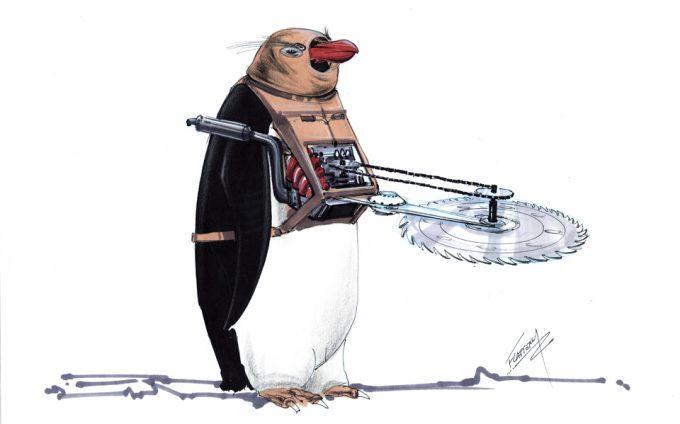 Batman Returns Concept Art Tim Flatery Penguin 003