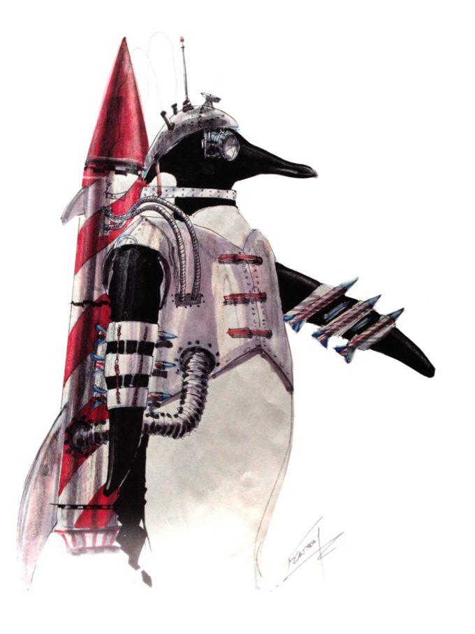 Batman Returns Concept Art Tim Flatery Penguin 005