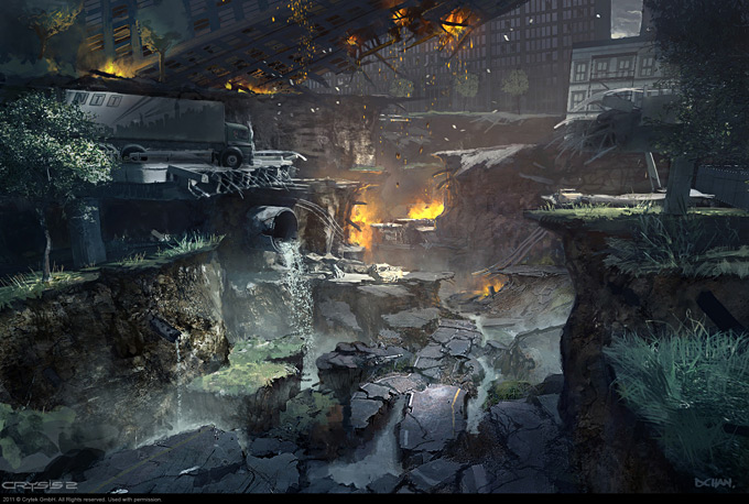 Crysis 2 Concept Art by Dennis Chan 10a