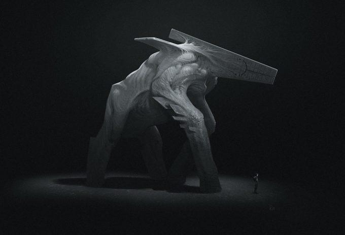 Peter Konig Concept Art lithicsauroid 1