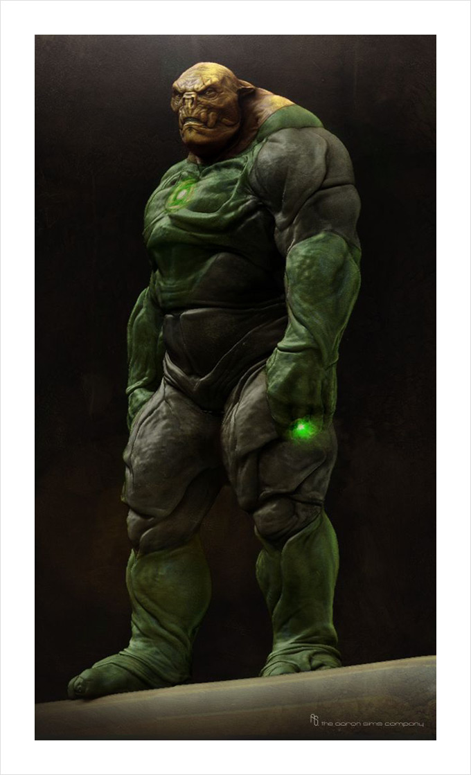 Green Lanter Concept Art by Aaron Sims Company 12a
