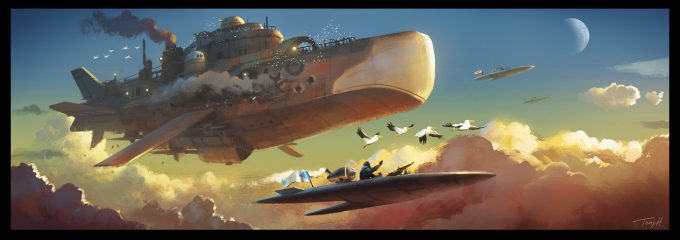 Tony Holmsten Concept Art flight of the pelicans