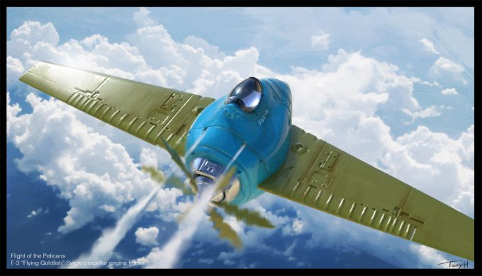 Tony Holmsten Concept Art goldfish aerial
