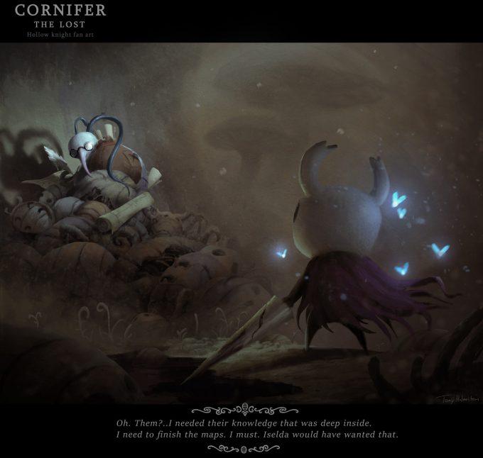 Tony Holmsten Concept Art hollow knight fanart cornifer the lost
