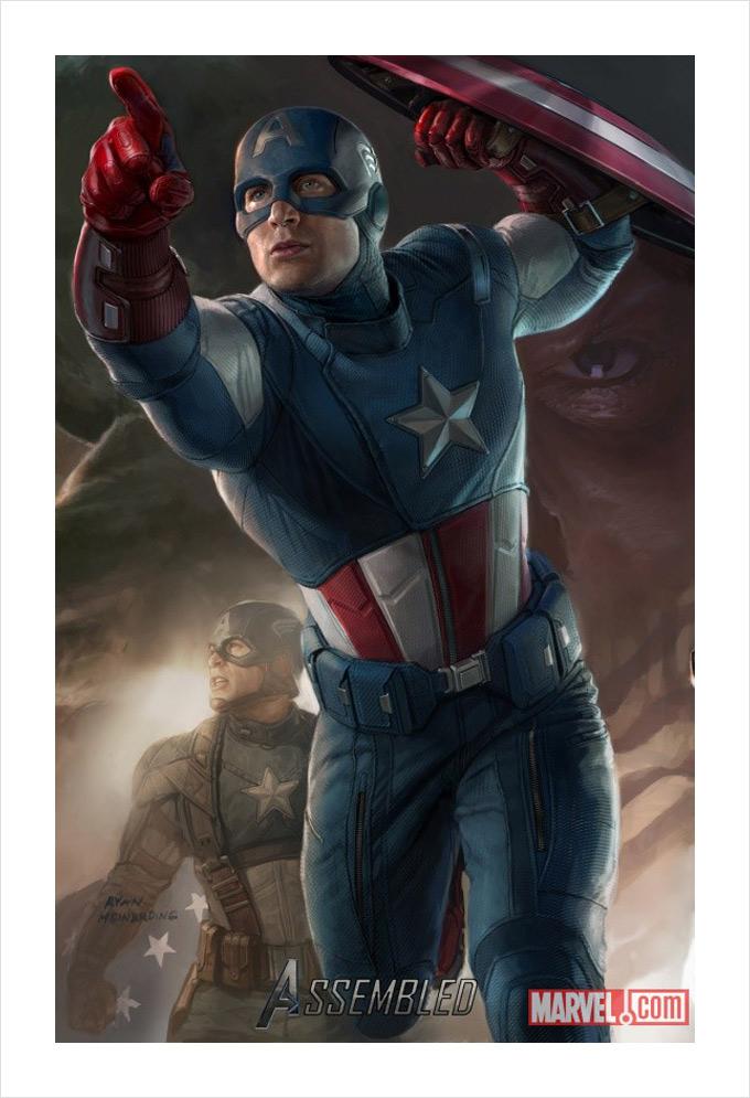 The Avengers Captain America Concept Art 01a
