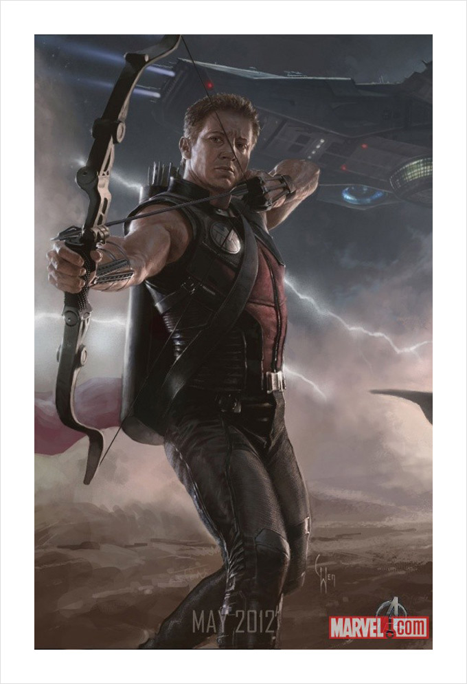 The Avengers Hawkeye Concept Art 01a