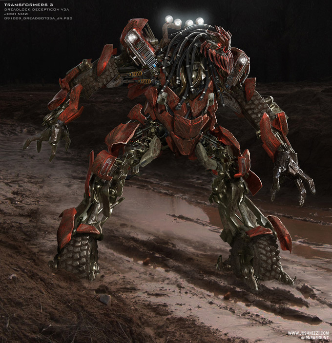 Transformers Dark of the Moon Concept Art by Josh Nizzi 35a