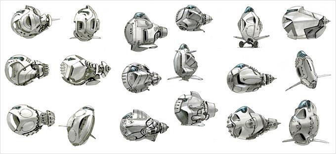 BLAST Spaceship Sketches and Renderings 01a