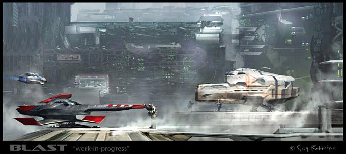 BLAST Spaceship Sketches and Renderings 02a