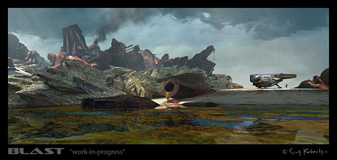 BLAST Spaceship Sketches and Renderings 04a