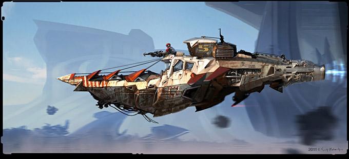 BLAST Spaceship Sketches and Renderings 05a