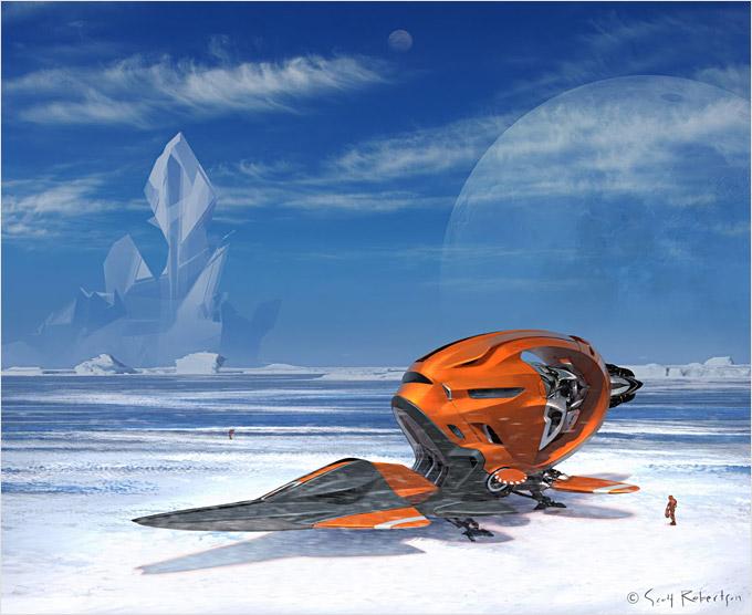 BLAST Spaceship Sketches and Renderings 07a